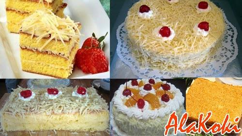 Resep Cake Lapis Keju dan Cara Membuat