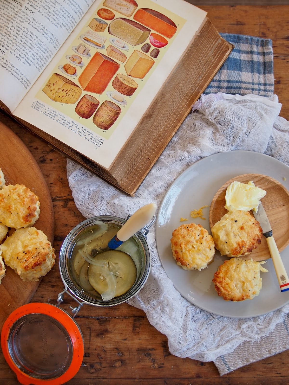 geo does...: cheddar & cracked pepper scones...