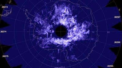 NUBES AZULES SOBRE LA ANTARTIDA ALERTAN SOBRA EL CAMBIO CLIMATICO, 27 DE DICIEMBRE 2013