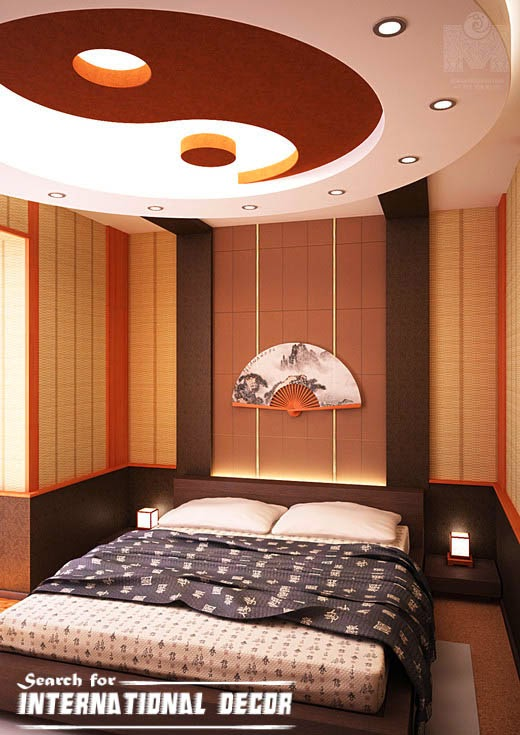 Japanese bedroom, Japanese style bedroom,modern japanese bedroom, flase ceiling