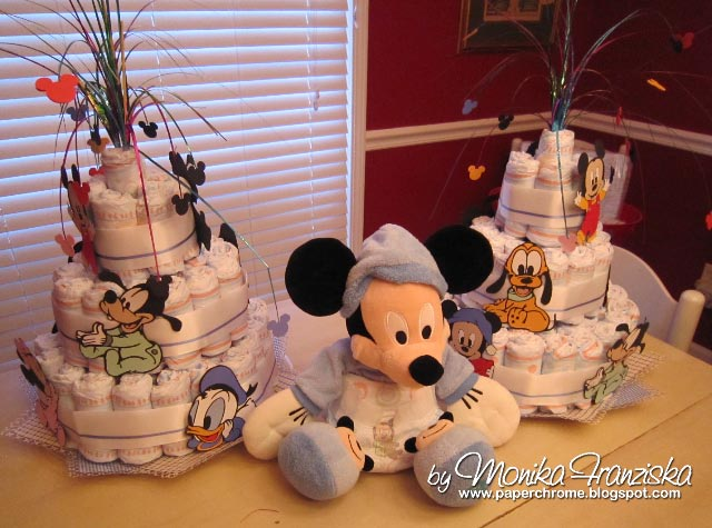 paper chrome baby disney baby shower goodies