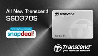 Transcend launches aluminium unibody designed SSD370S SATA III 6G/s SSD in partnership with Snapdeal