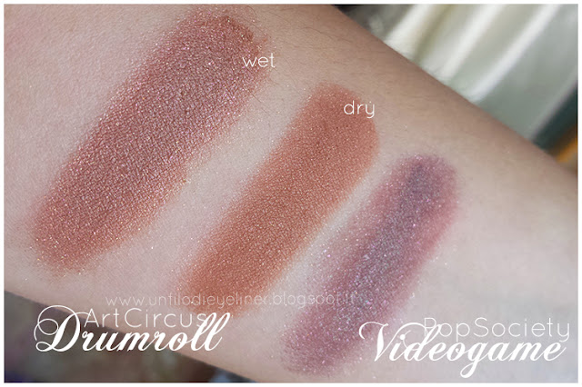 Art Circus - Neve Cosmetics Drumroll swatch Videogame