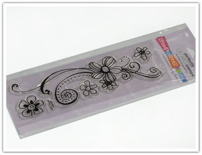Clear stamp med blommor