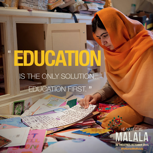 Malala on Education #HeNamedMeMalala