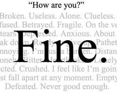 My Purple Dreams: I'm Fine.