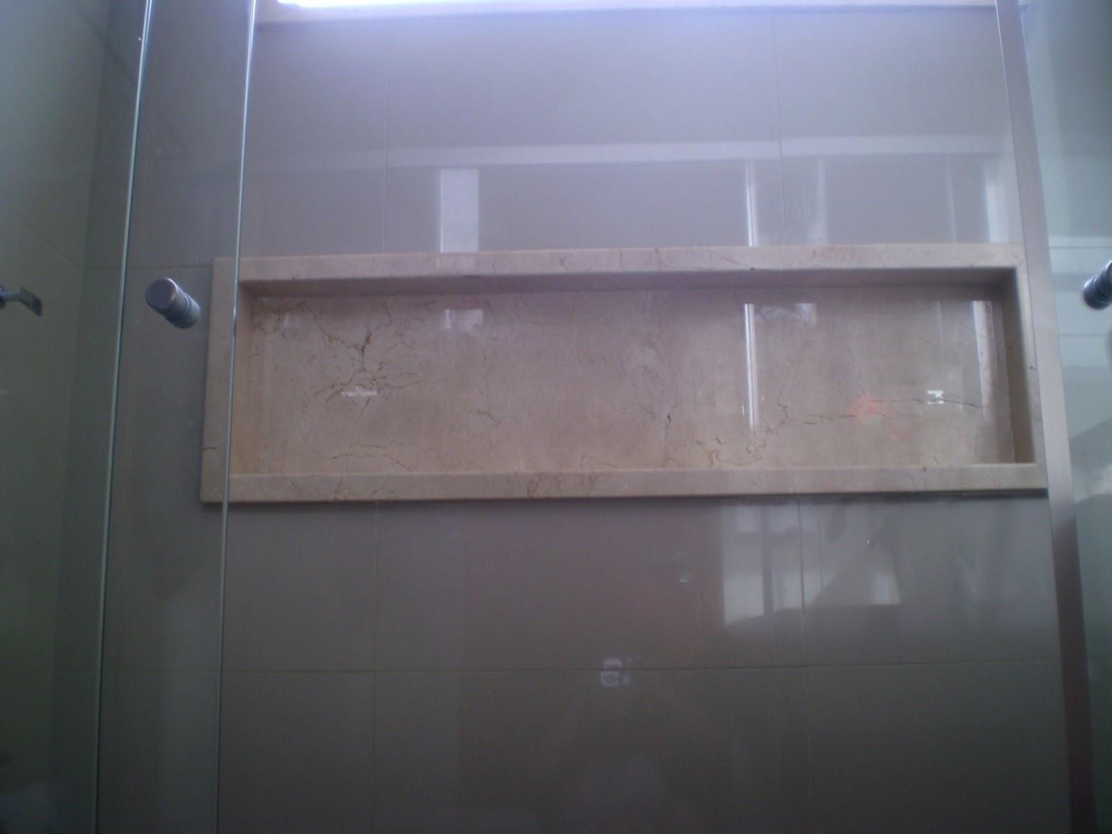 Casa da Áurea Utilização de pastilhas em banheiro!!! -> Nicho Embaixo Da Janela Banheiro