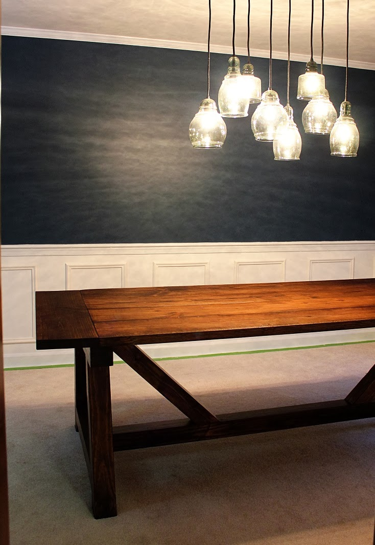The Handcrafted Life Dining Room Progress Completed