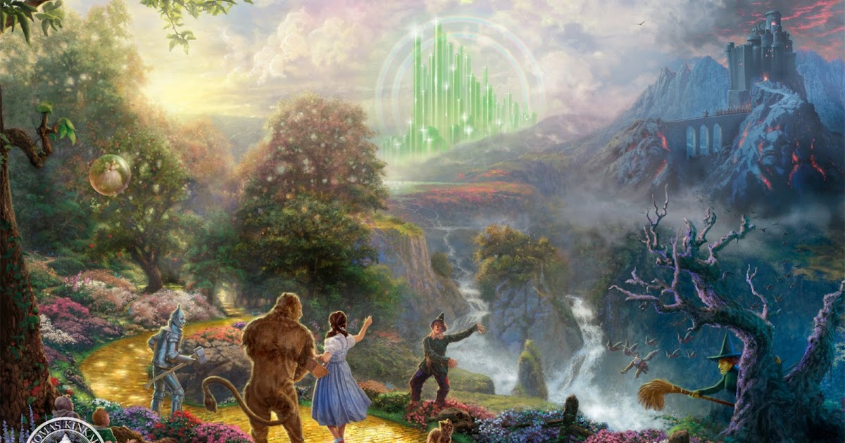 wallpapers photo art the wizard of oz wallpaper painting