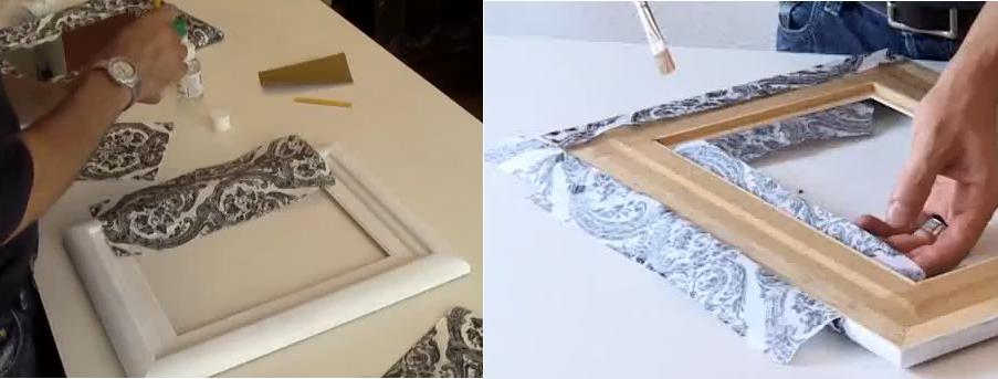 Reciclaje de marcos de cuadros y espejos un mundo de - Hacer marco espejo ...