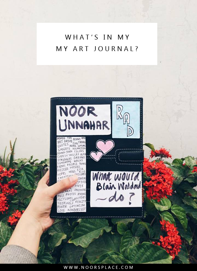 Whats in my art journal - Noors Place blog