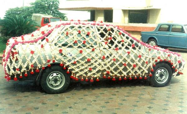 Flower Wedding Car Decorations : Car decoration