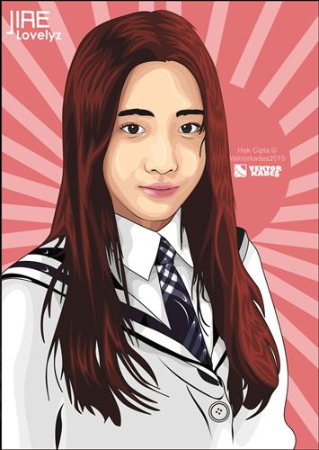 Jiae Lovelyz Vektor Kartun Mas Kades Blog Desainer Grafis