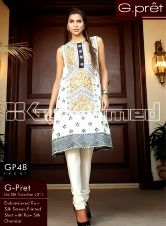 Gul Ahmed Charmeuse Silk Suit
