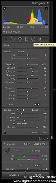 Lightroom toolbar, screenshot taken from Lightroom Fanatic.