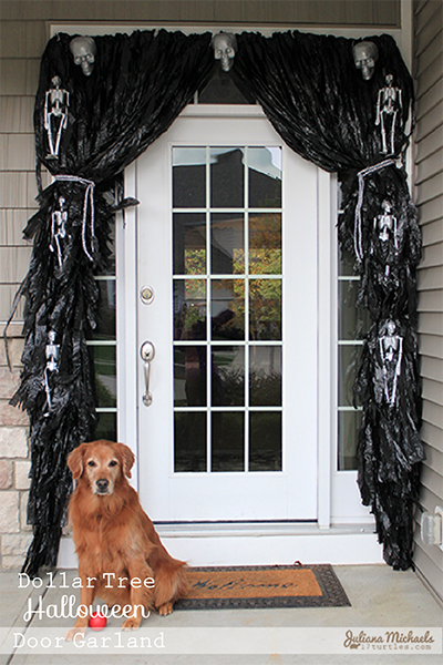 ... To The Outdoors By Creating A Garland For The Front Door. Today I Am  Going To Share With You How I Created The Actual Garland Using Black Trash  Bags.