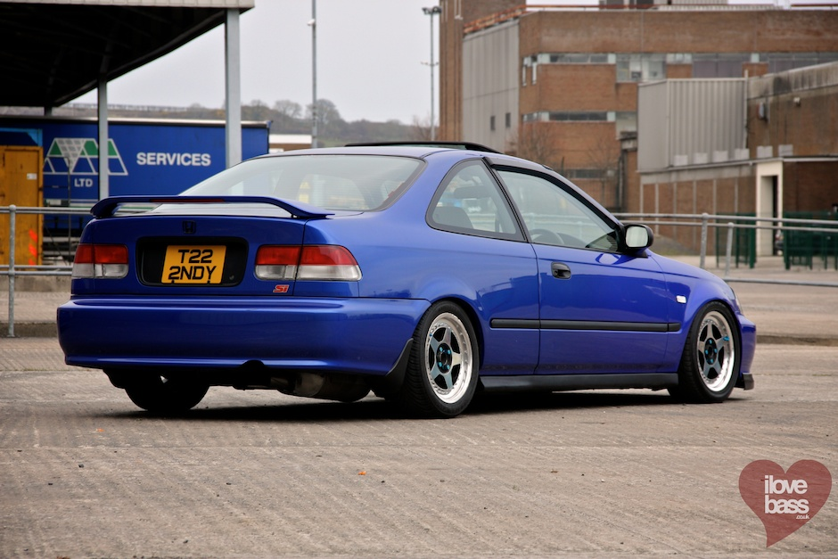 Honda Civic, VI, coupe, Si, VTEC is kicking in, usportowiony samochód, kultowy, znany, ceniony, auta po tuningu, niebieski, fotki, zdjęcia, blue