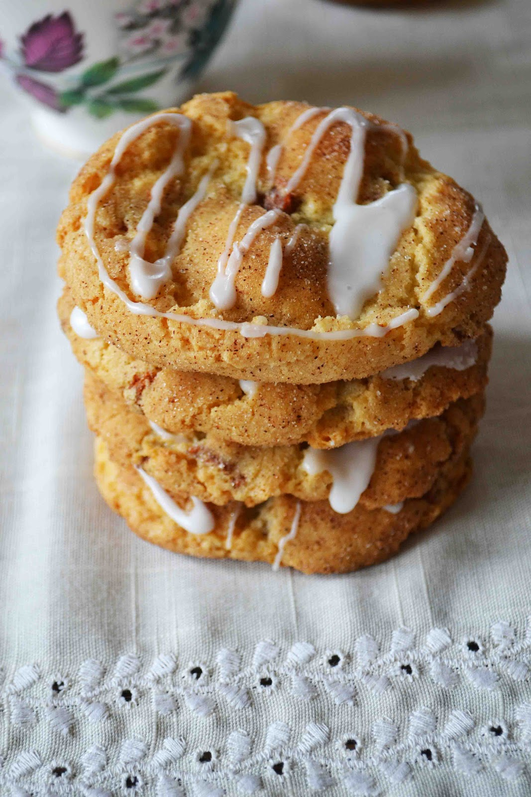 Cinnamon Bun Sugar Cookies - Baked New England