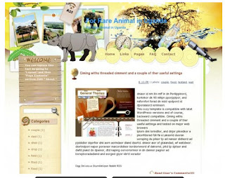 template blogger FOR RARE ANIMAL IN UAGANDA