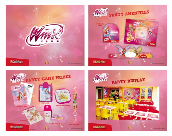 McDonalds Winx Club Party Theme