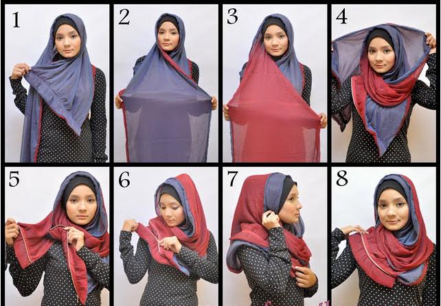 Cara Memakai Jilbab Selendang