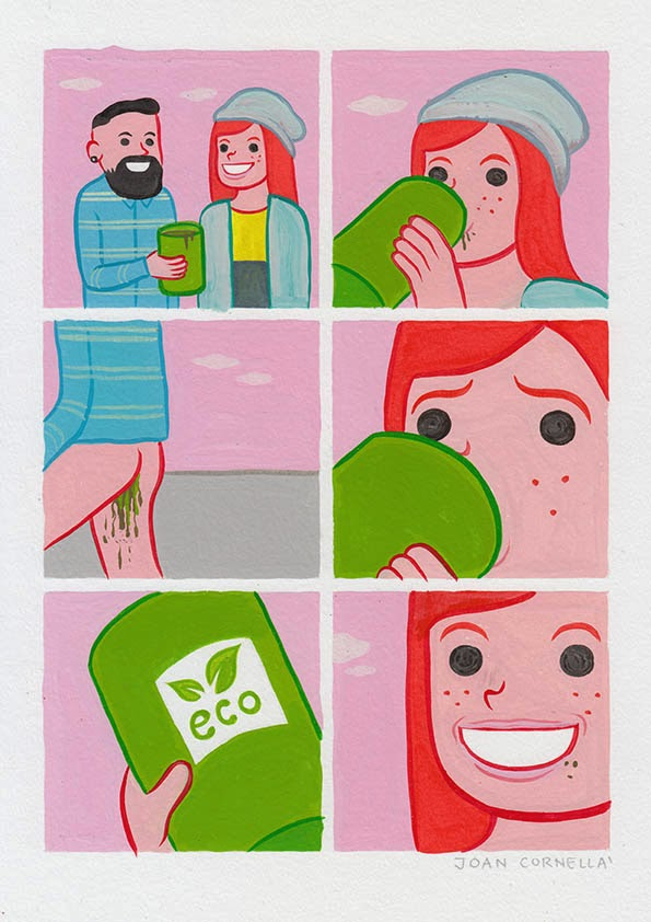 Page 1 | Joan Cornellà - Eco. Published by Trony on Friday, 27 March 2015 in Art and Design (Design's Factory)