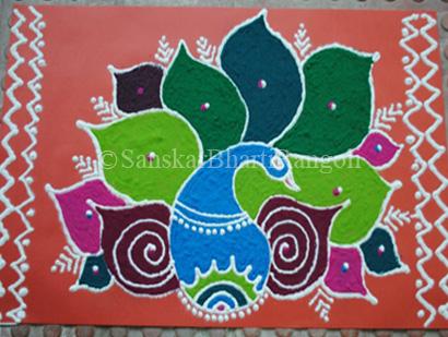 Rangoli designs for Krishna Janmashtami photo
