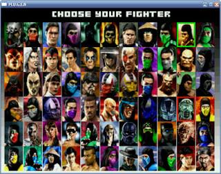 foto gambar semua karakter petarung pada mortal kombat