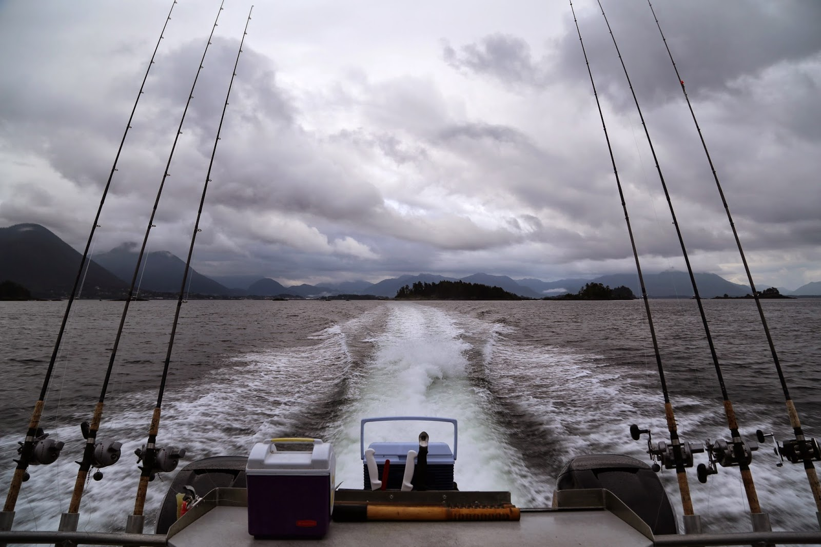 Rods on the boat, going fishing, sitka, alaska,