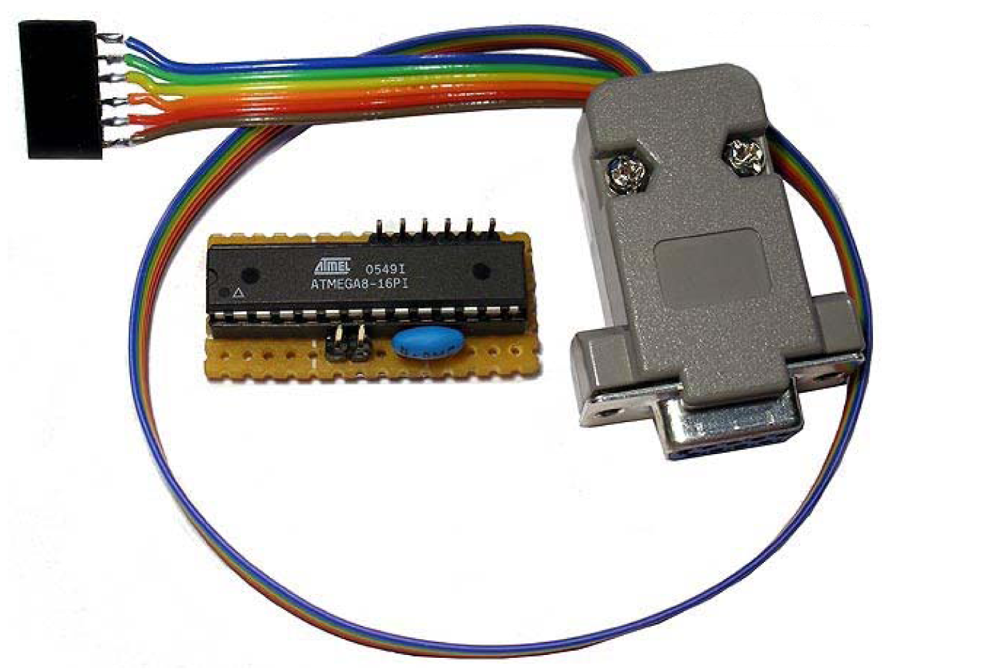 Avr Serial Port Programmer Microcontrollers And Pic In Circuit Schematic