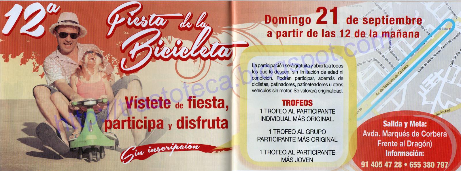 XII FIESTA DE LA BICICLETA - FIESTAS DE LA ELIPA 2014