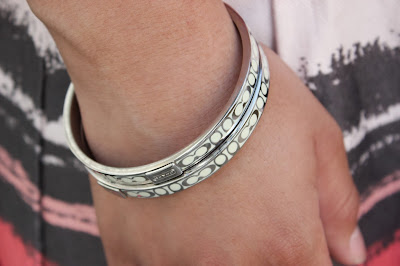 White Coach Bangle Bracelets