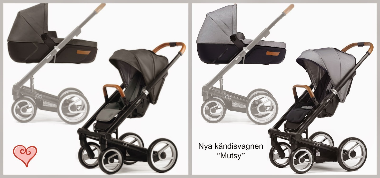 http://www.pinkorblue.se/Paa-vaeg/Mutsy-IGO-Komplett-kombivagn-Black-Dark-Grey-URBAN-NOMAD-Edidion-1.html