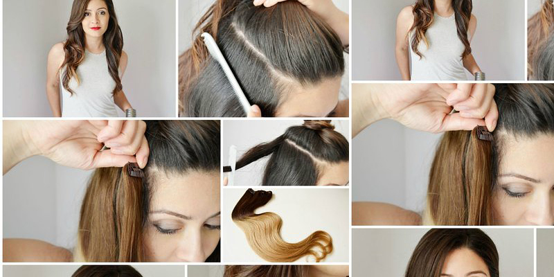 Cute Ombre Hair Extension Step by Step - B & G Fashion