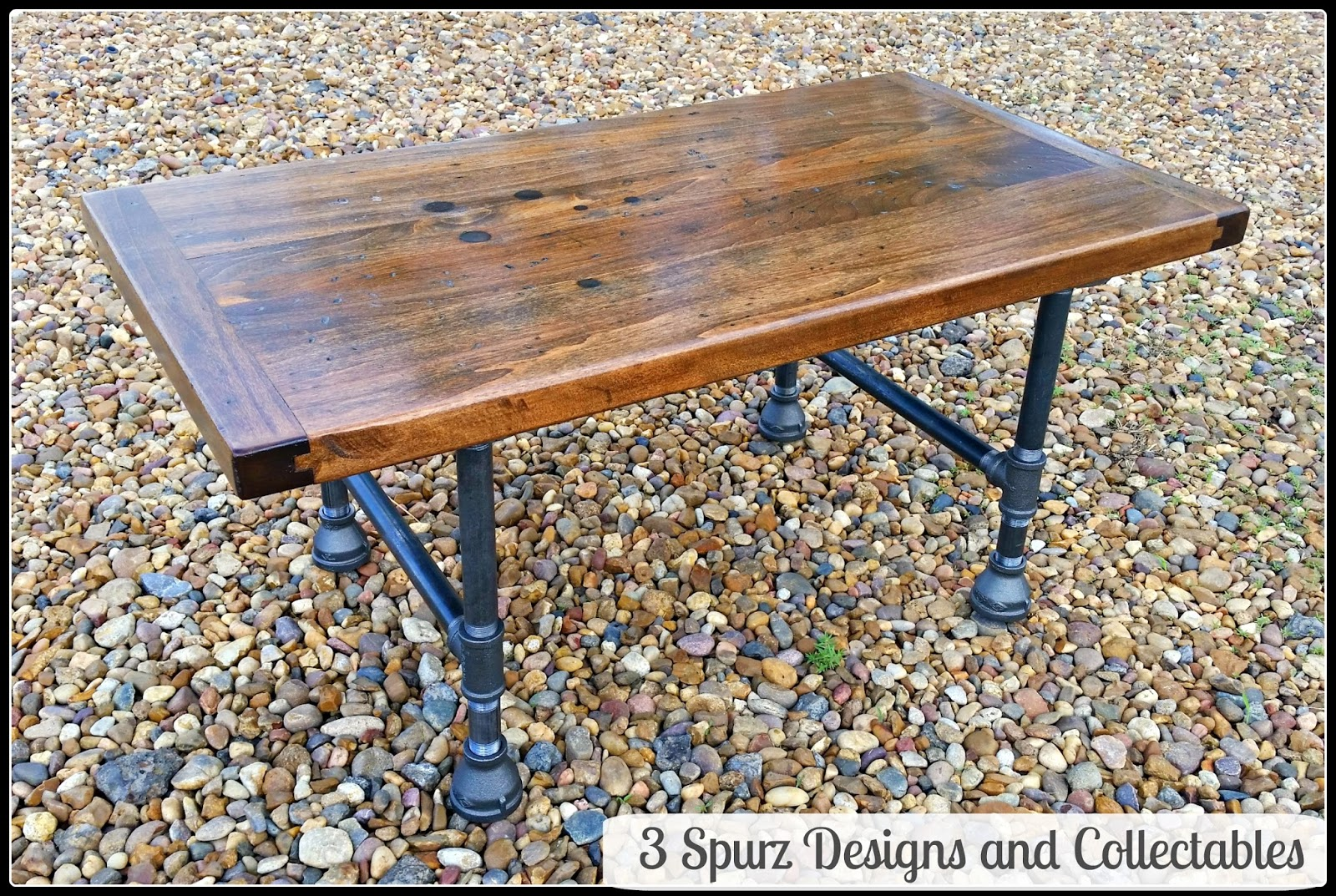 Vintage Industrial Butcher Block Workbench Top,with Original Patina That  Tells The Story Of Many Jobs Well Done. Turned Into Coffee Table With Pipe  Legs.