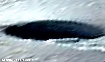 Crashed UFO Hidden in Antarctic Ice