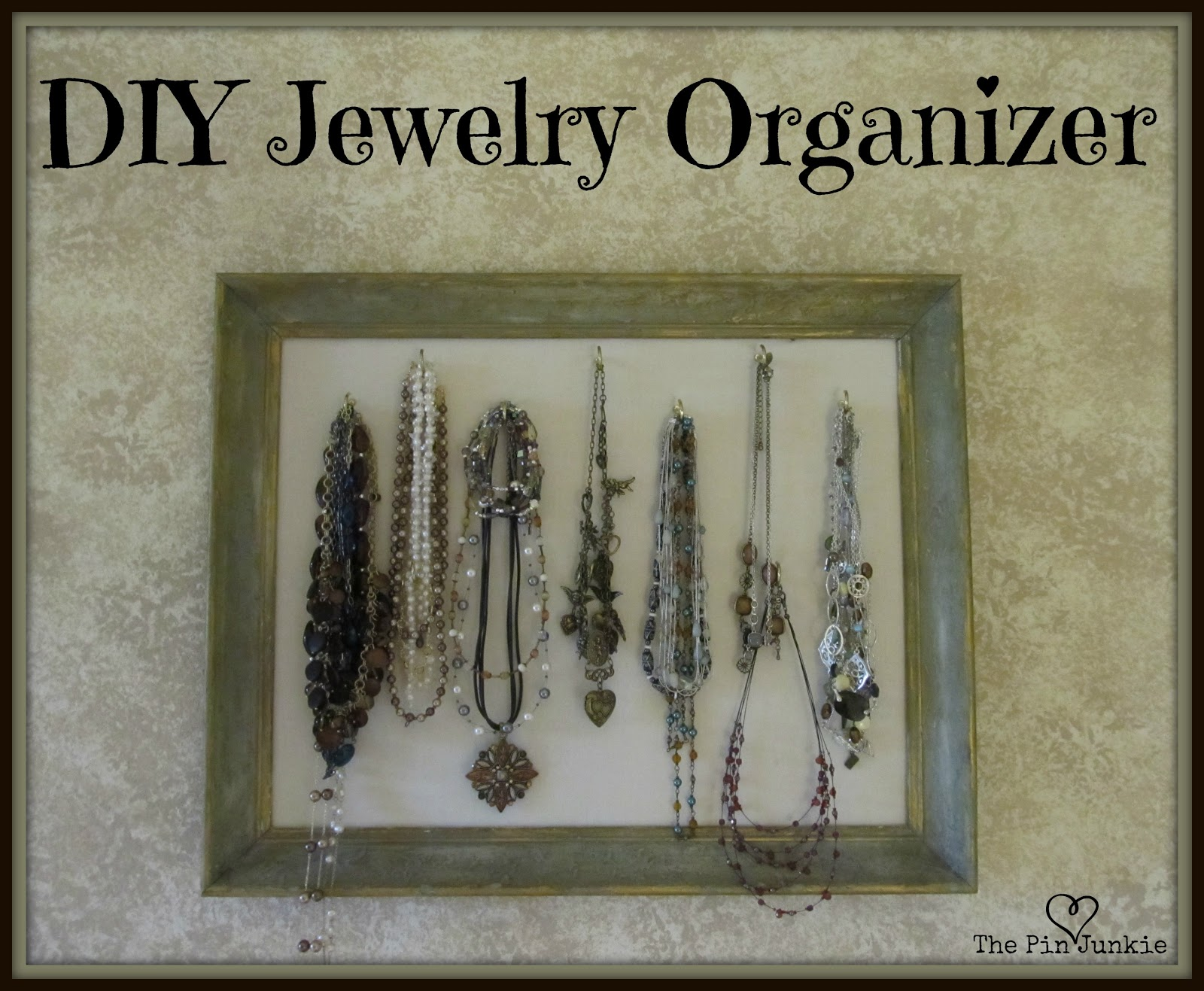 Jewelry Organizer Diy Diy Framed Jewelry Organizer Crafthubs