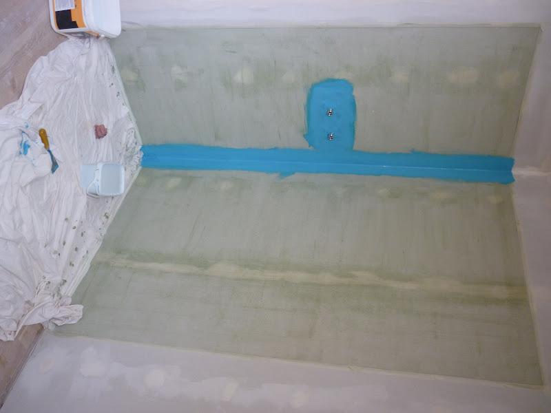 construction de notre maison agnos salle de bain 2 la douche. Black Bedroom Furniture Sets. Home Design Ideas