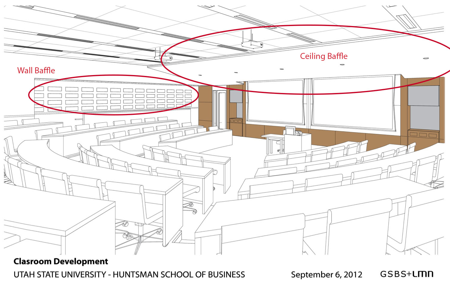 Classroom Design Meaning : Jon m huntsman school of business sound baffles