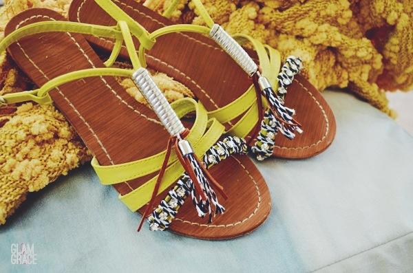 DIY high end tassel customized sandals
