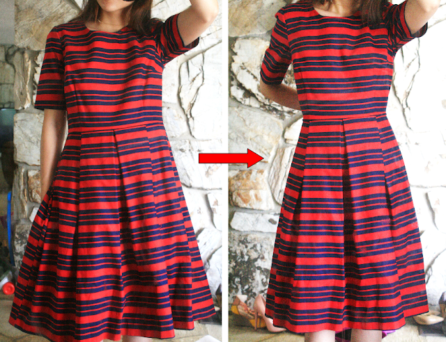 5 minute alterations: tailor a bigger size dress in less than 5 mins.