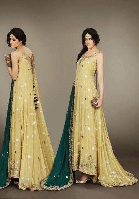 Fashion world latest Fashion: Pakistani frock dresses fashion.