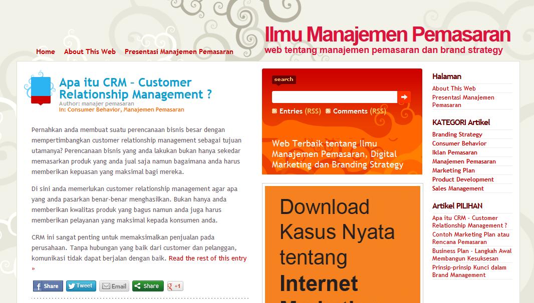 Belajar Manajemen Pemasaran di Ahlimanajemenpemasaran.com