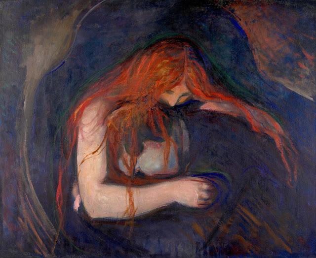 Edvard Munch: Vampyr (Kærlighed og Smerte)