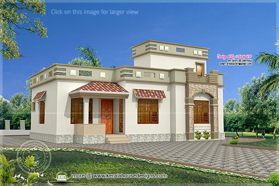 Low Budget Kerala Style Home In 1075 Kerala Home