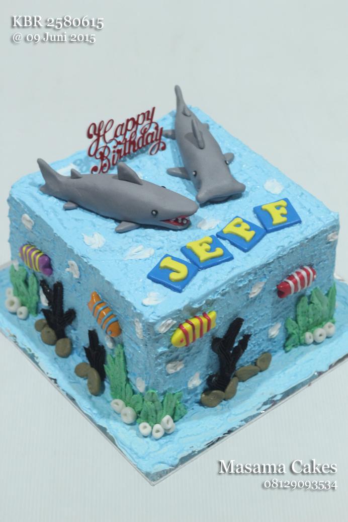 Masama Cakes Shark Birthday Cake Cupcake For Jeff