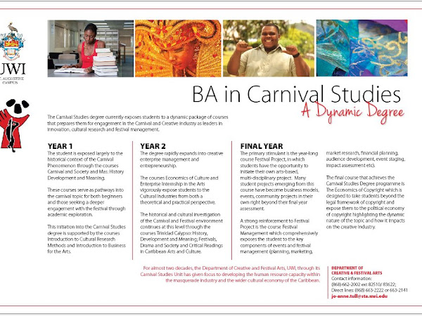The University of The West Indies - BA in Carnival Studies