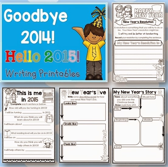 Coloring Book For Adults End Of Year Writing Printables Goodbye 2014 Hello 2015