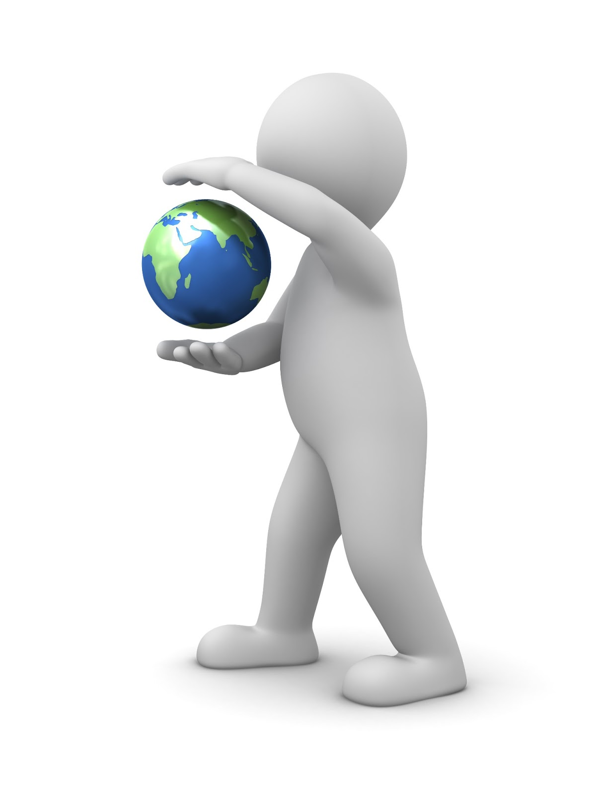 Free stock photos download 3d man holding earth in his hands Free 3d