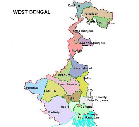 economy of west bengal West bengal is situated in eastern india and shares its borders with jharkhand,  bihar, odisha, sikkim and assam the state also shares international borders.